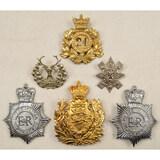 Lot of 6 British Military Cap Badges
