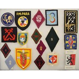 Lot of 17 French Military Patches