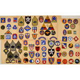 Lot of 135 WWII US Patches & Stripes