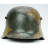 WWI German Camouflaged Helmet