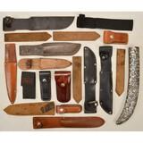 Lot of 19 Knife Sheathes