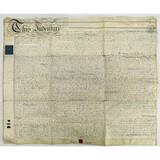 1832 Indenture Document on Parchment