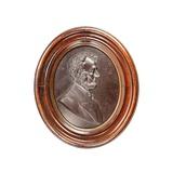 Lincoln Profile Wood Plaque