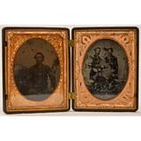 1/4 Plate Double Image Civil War in Union Case