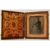 1/6 Plate Tintype of a Man & Woman