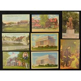 8 Postcards of Lincoln, Grant & Chicago Stockyards