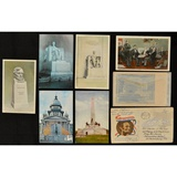 7 Lincoln Postcards and 1 Lincoln Envelope