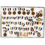 Lot of GAR Medals, Ribbons, and Stamps