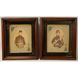 Lot of 2 Civil War Era Framed Photos