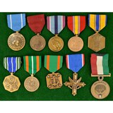 Lot of 10 US Medals