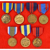 Lot of 7 US Navy Campaign Medals