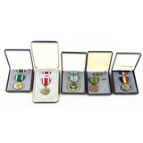Lot of 5 US Cased Replacement Medals