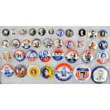 Lot of 36 1968 Political Pin Remakes