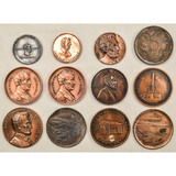 Lot of 12 Abraham Lincoln Medallions