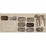 Lot of 11 US Dog Tags