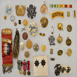 Lot of US Insignias, Medals and Ribbons