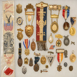 Lot of US Medals, Pins and Ribbons