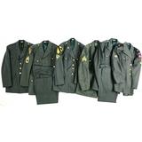 6 Vietnam U.S. Army Dress Jackets & 2 Trousers