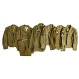 5 WWII & 1 Korean U.S. Army Dress Ike Jackets