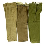 3 WWII US Army Trousers