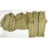 5 Vietnam Era US Army Khaki Shirts & Trousers