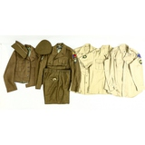 WWII US Army Ike Jackets, Trouser, Khaki Shirts