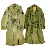 Lot of 2 WWII US Overcoats