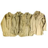 Lot of 3 US WWII Officer's Shirts