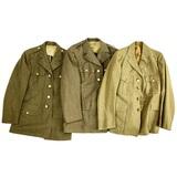 3 WWII US Army Dress Jackets