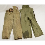 2 WWII US Navy Inclement Weather Overalls
