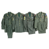 Lot of 4 US Army Green Service Jackets