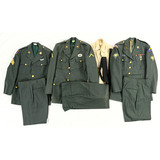 Lot of 3 US Army Green Service Uniforms