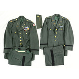 Lot of 2 US Officer Green Service Uniforms