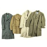 Lot of 4 Military Overcoats