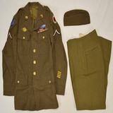 WWII US Uniform Jacket, Pants, & Overseas Cap