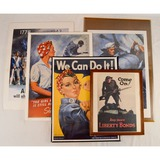 Lot of 5 Military Repro Posters