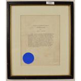 Framed Legion Of Merit Certificate