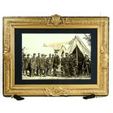 Framed Photograph of Lincoln w/ Civil War Generals