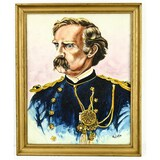 Contemporary Oil of General Armstrong Custer