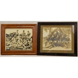 Lot of 2 Framed US/British Soldier Photos