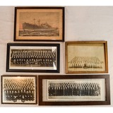 Lot of Framed WWII Navy Unit Photos
