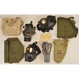 Lot of 4 US Gas Masks