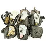 Lot of 5 Soviet Gas Masks