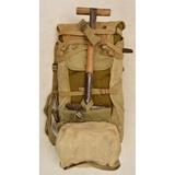 US WWI/WWII Shovel, Blanket, & Mess Kit