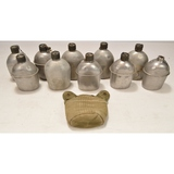 Lot of 10 US Military Canteens