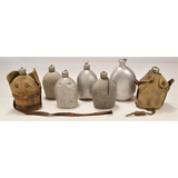 Lot of 7 US WWI Canteens