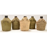 Lot of 5 US WWII Canteens