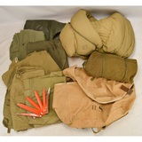 Lot of Shelter Halves, Blankets, & Duffel Bag