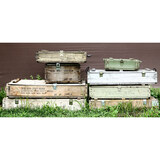 Lot of 8 Wooden Ammo Crates