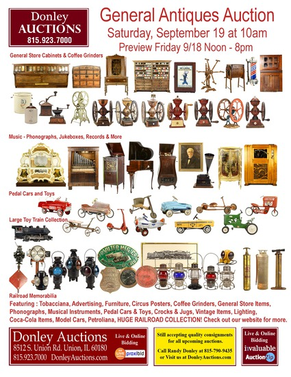 General Antiques, Toys & Trains, Railroad Auction